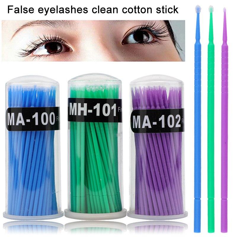 Micro Brush Disposable Microbrush Applicators Eyelash Extensions Remove False Eyelashes Cotton Swab Hot Sales