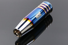 NOS הכלה שרוף כחול סגנון 13cm אלומיניום Gear Shift Knob שיפטר מנוף ראש לרכב אוניברסלי