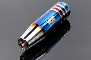 Image 1 - NOS הכלה שרוף כחול סגנון 13cm אלומיניום Gear Shift Knob שיפטר מנוף ראש לרכב אוניברסלי