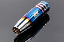 Nos noiva queimado estilo azul 13cm de alumínio alavanca shifter alavanca alavanca para carro universal