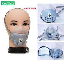 Máscara de pintura Industrial antipolvo respirador máscara de polvo filtros de pulido pintura Industrial Spray decorar protección seguridad laboral