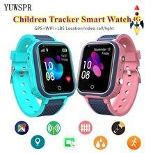 Montres de suivi 4G pour enfants, GPS WIFI LBS localisation vidéo appel lumière étanche suivi SOS enfants Smartwatch horloge LT21, nouveauté 2021