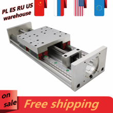 Z axis motion table CNC sliding stage travel 100-2000mm linear guides HGR20 ball screw SFU1605 SFU1610 support step servo motor