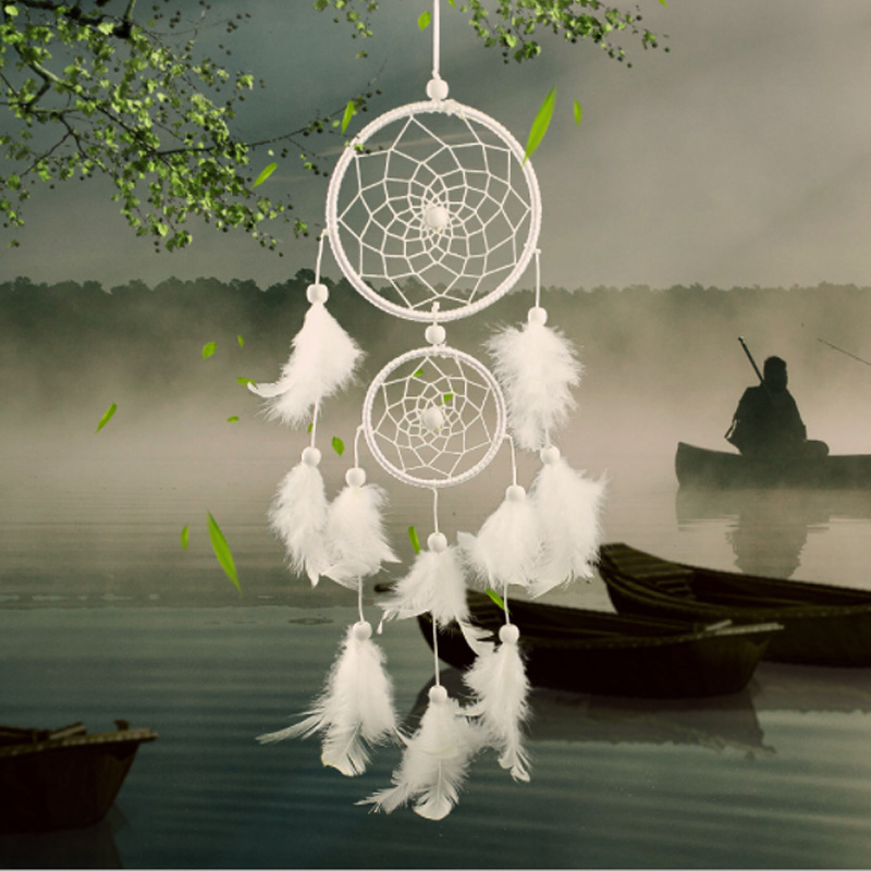 Dream Catcher Room Decor Feather Weaving Catching Up The Dream Angle Dreamcatcher Wind Chimes Indian Style Religious Mascot(China)
