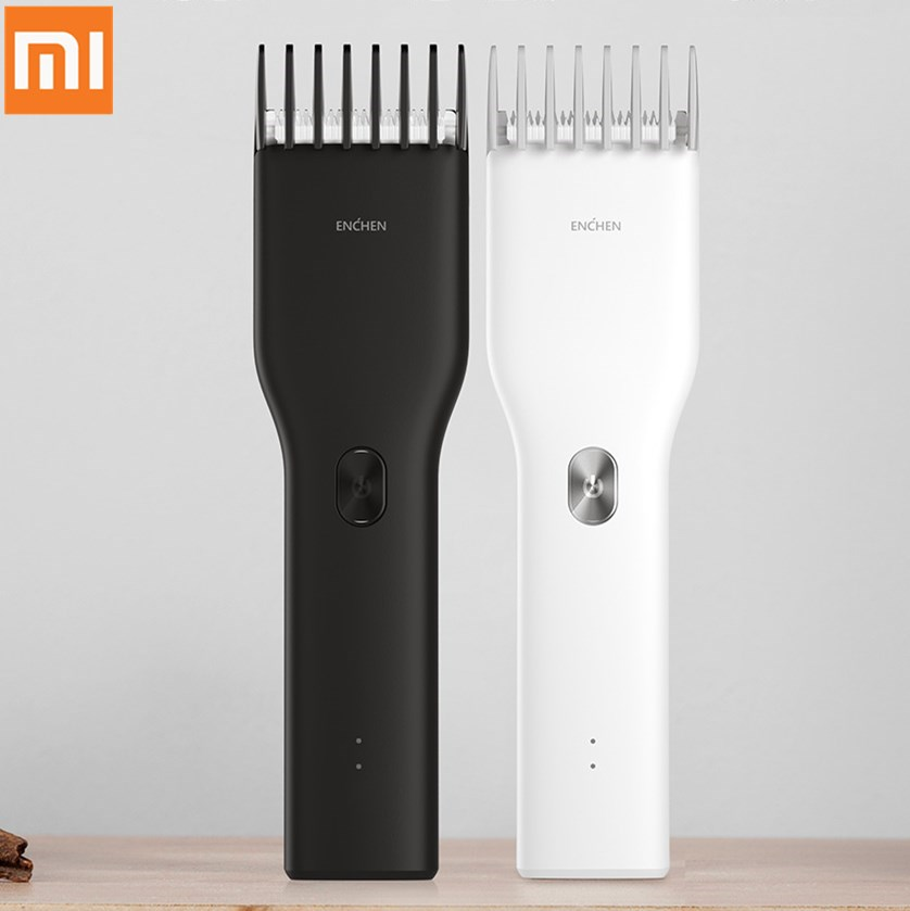 Xiaomi Hair Clipper ENCHEN Boost USB Hair Trimmer Rechargeable Two Speed Ceramic Cutter Hair Fast Charging Children Hair Clipper