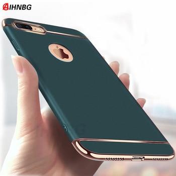Luxe 360 couverture complète placage coque de téléphone pour iphone 11 Pro 6 6s 7 8 Plus 5 5s SE X XS Max XR PC mat housse rigide Capa