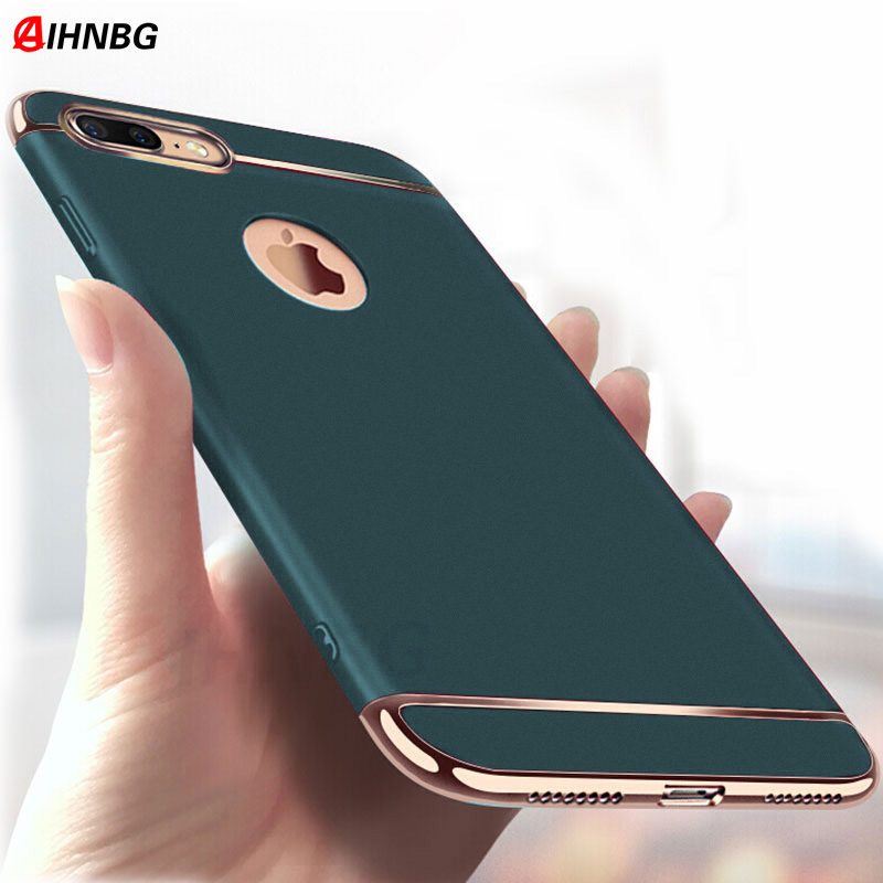 Luxury 360 Full Cover Plating Phone Case For iphone 11 Pro 6 6s 7 8 Plus 5 5s SE X XS Max XR PC Matte Hard Cover Case Capa(China)
