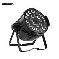 SHEHDS التحكم الصوتي كبيرة سبائك الألومنيوم مصباح موازي المستوى 24X12W RGBW المرحلة الإضاءة أفضل ل عيد ميلاد حزب/الأسرة جمع/الزفاف