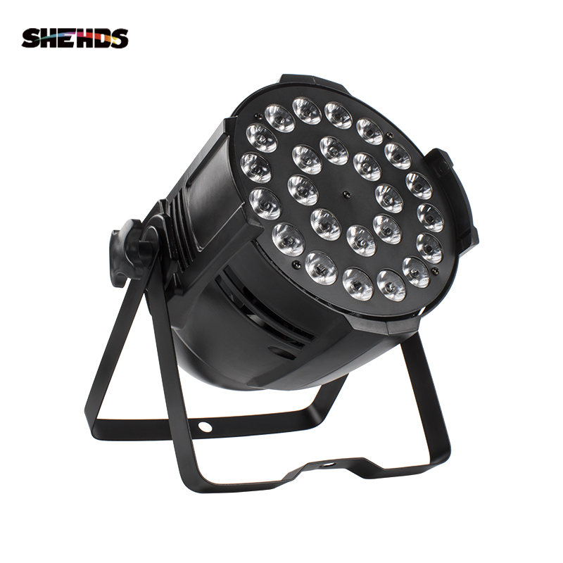 SHEHDS Voice Control Big Aluminum Alloy Par Light 24X12W RGBW Stage Lighting Best For Birthday Party/Family Gathering/Wedding