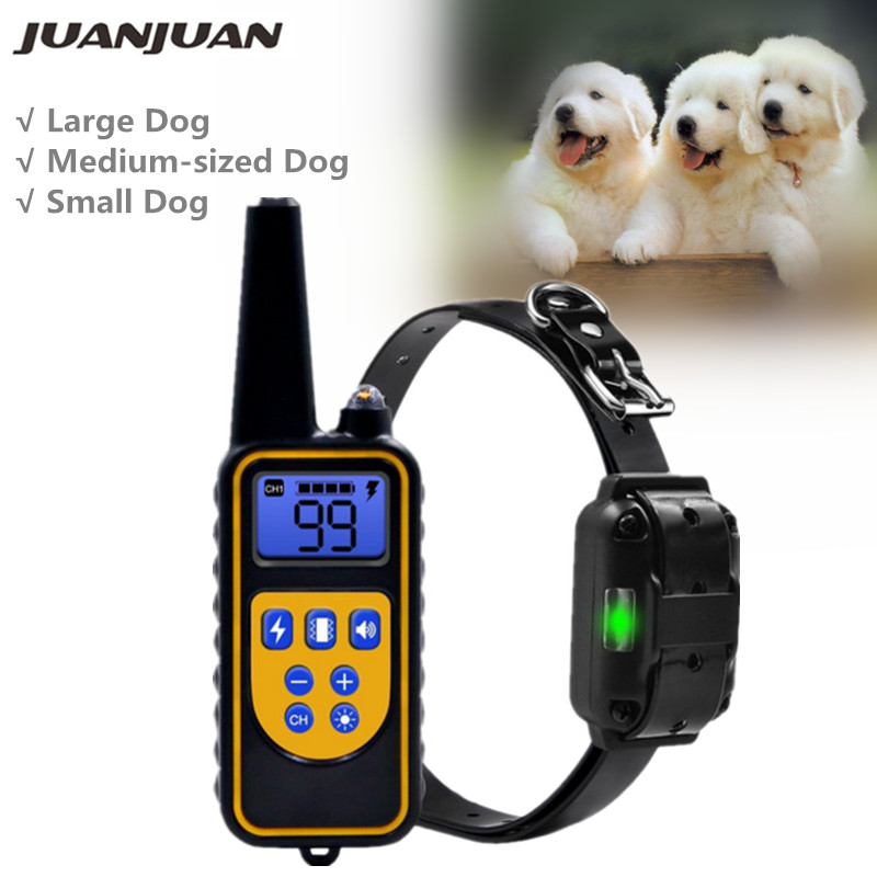 Electric Dog Training Collar Waterproof Rechargeable Remote Control Pet with LCD Display for All Size Shock Vibration Sound Training Collars    - AliExpress