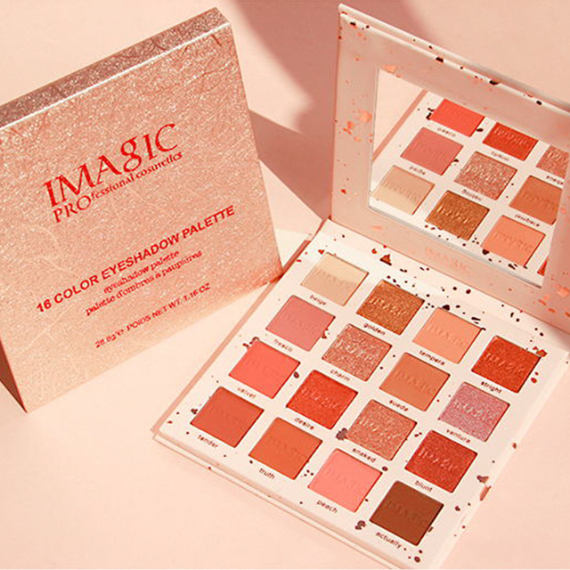 IMAGIC New Arrival Charming Eyeshadow 16 Color Palette Make up Palette Matte Shimmer  Pigmented Eye Shadow Powder 3