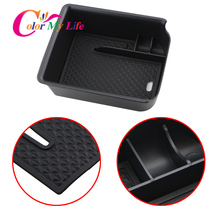 Color My Life Car Armrest Box Storage for Volkswagen VW Golf 8 MK8 GTI GTE R 2019 2020 2021 Center Console Accessories Stowing