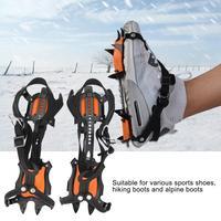 Profissional 10 dentes anti skid garra com furo ajustável anti skid garra para esqui de escalada de montanha|Acessórios para escalada| |  -