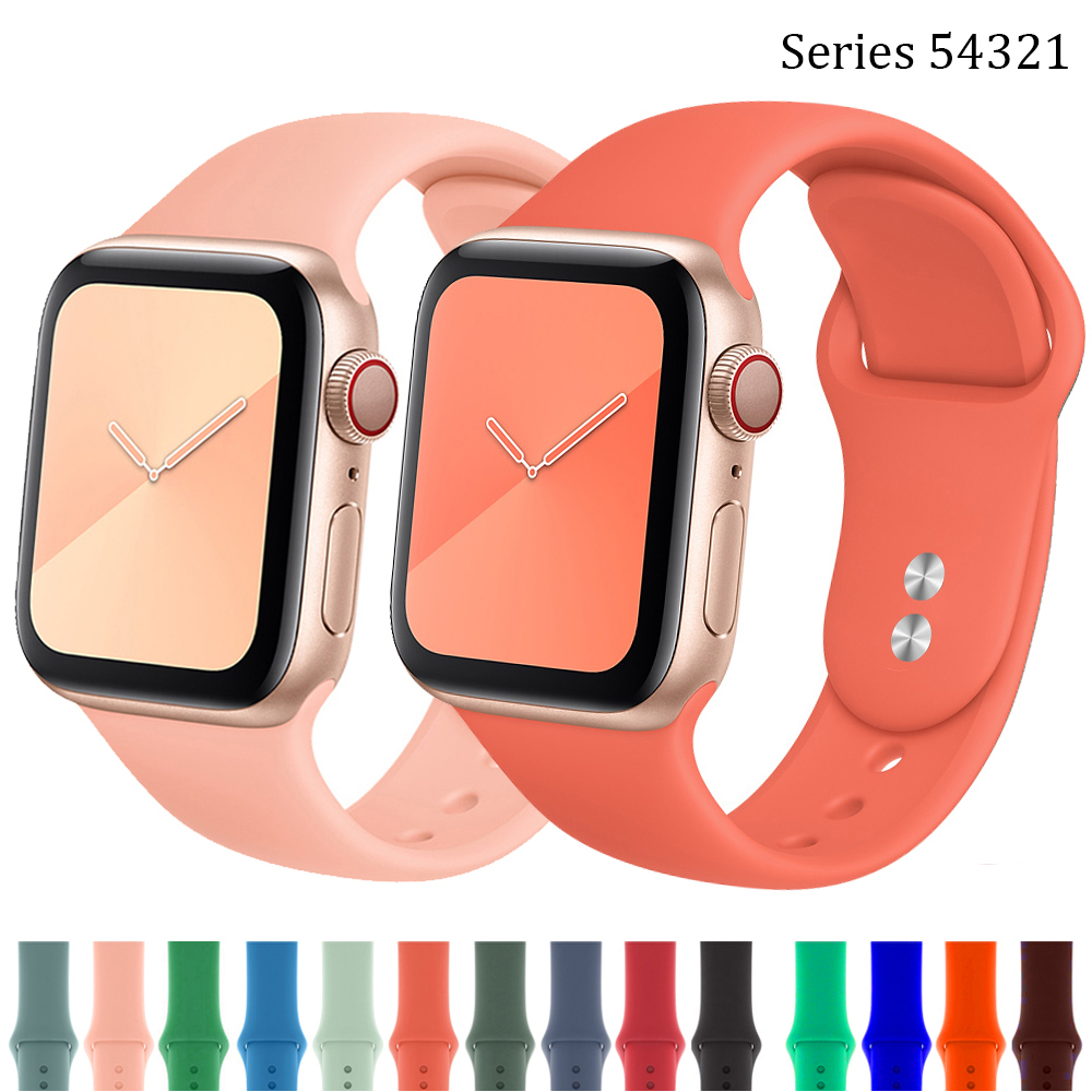 Strap For Apple Watch Band 40mm Iwatch 42mm 38mm Bracelet Belt Silicone Watchband Accessories Correa Apple Watch 5 4 3 40 44 Mm