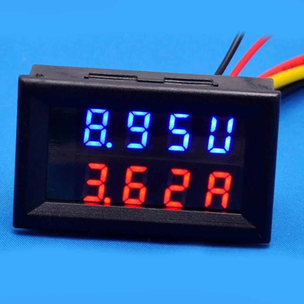 DC 0-200V Electronic Digital Voltmeter Ammeter LED Dual Display Voltage Regulator Volt AMP Current Meter Tester