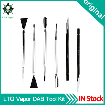 1PC Original LTQ Vapor DAB Tool Stainless Steel 3 Types Dabber Tools 143mm Metal Titanium Nail For Wax Vaporizer Dry Herb
