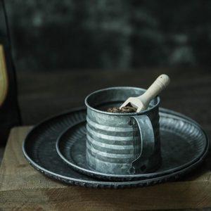 Image 2 - 金属鉄錬鉄鉄花瓶ジャー小さなミルクポットレトロインダス素朴な静物食品写真撮影の小道具