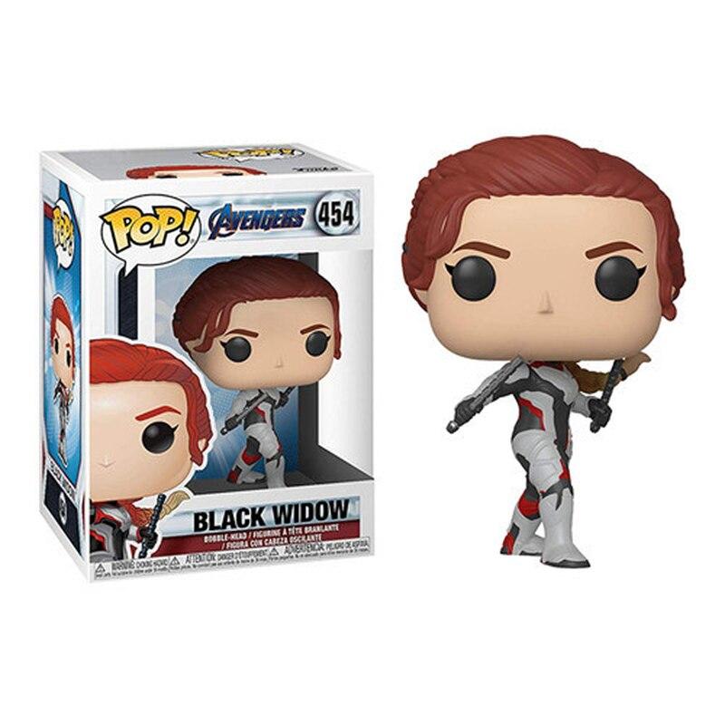 FUNKO POP Marvel figurine les vengeurs 4 Endgame Natasha Romanoff veuve noire 454 # PVC figurine jouets poupée 10CM avec boîte