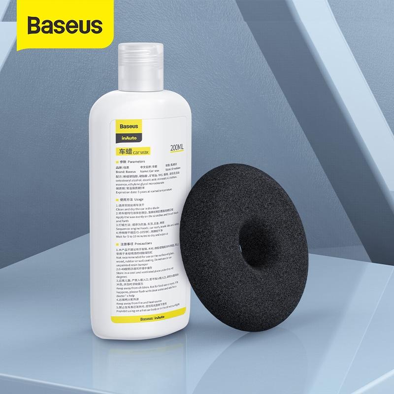 Baseus 200ml Car Wax Refill Kit Car Polisher For Scratch Repair Auto Paint Care Car Waxing Polishing Accessories
