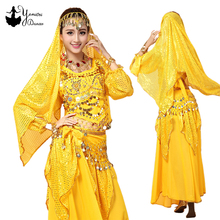 Adult Belly Dance Costumes for Women Suit Indian Bellydance Dress 2/3/4 pieces set Woman Egypt Stage Skirt