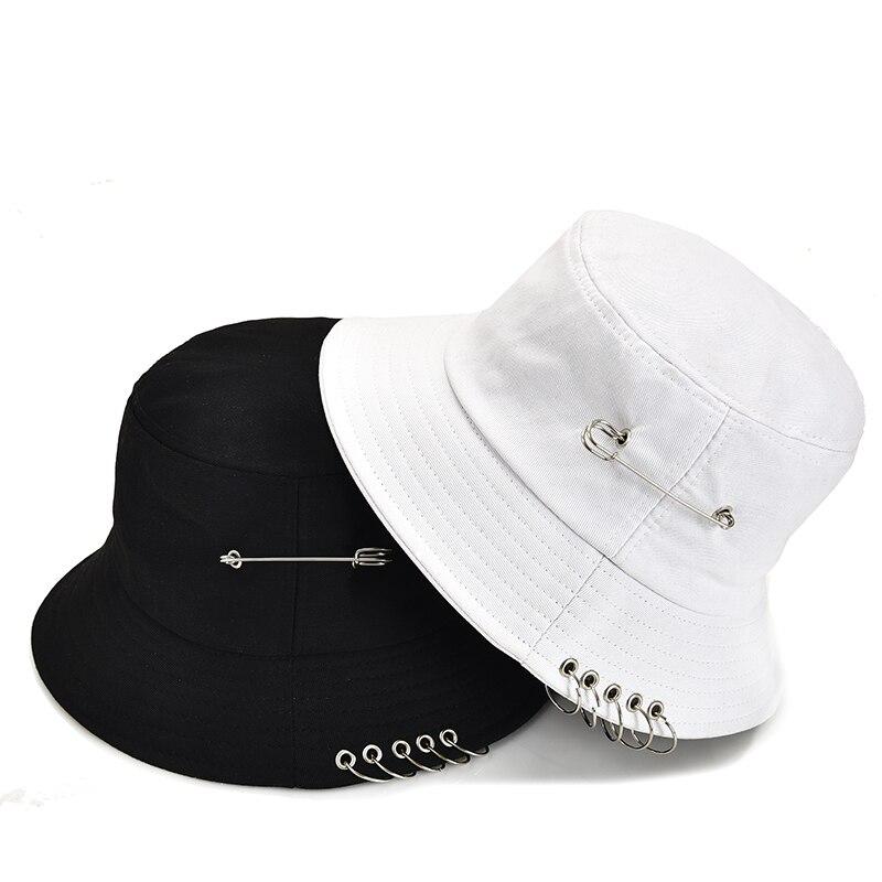 Beibao-shop Palmeras y Tablas de Surf Hombres Tendencias para Mujer Moda Sombrero de Cubo Negro