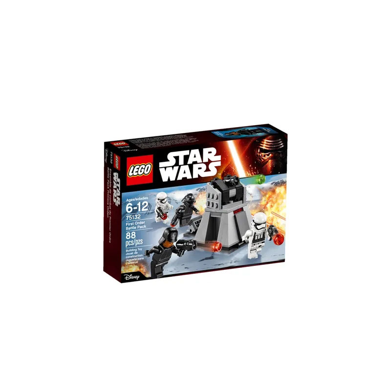 <font><b>LEGO</b></font> 75132 <font><b>Star</b></font> <font><b>Wars</b></font> Series First Order Battle Pack Building Block Includes 4 <font><b>Minifigures</b></font> Toy A Great Gift for Kids image
