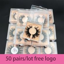 סיטונאי סדר 50 זוגות\חבילה משלוח לוגו MIKIWI מותאם אישית תיבת 24 סגנונות רך דרמטי עין ריסים 5D אמיתי מינק בעבודת יד עבה ריסים