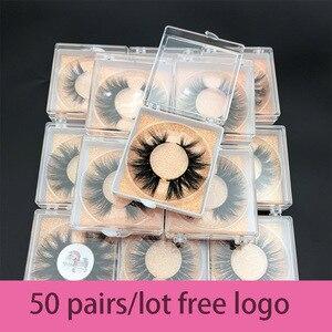Image 1 - Bán buôn đặt hàng 50 cặp/lô logo tự do MIKIWI Hộp Tùy 24 Phong Cách mềm mại kịch tính kẻ Mắt 5D thực chồn tay dày lông mi