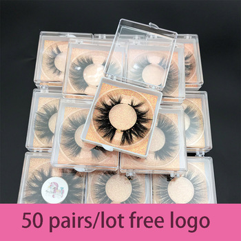 Wholesale order 50pairs/lot free logo MIKIWI Custom box 24 Styles soft dramatic Eye lashes 5D real mink handmade thick eyelashes