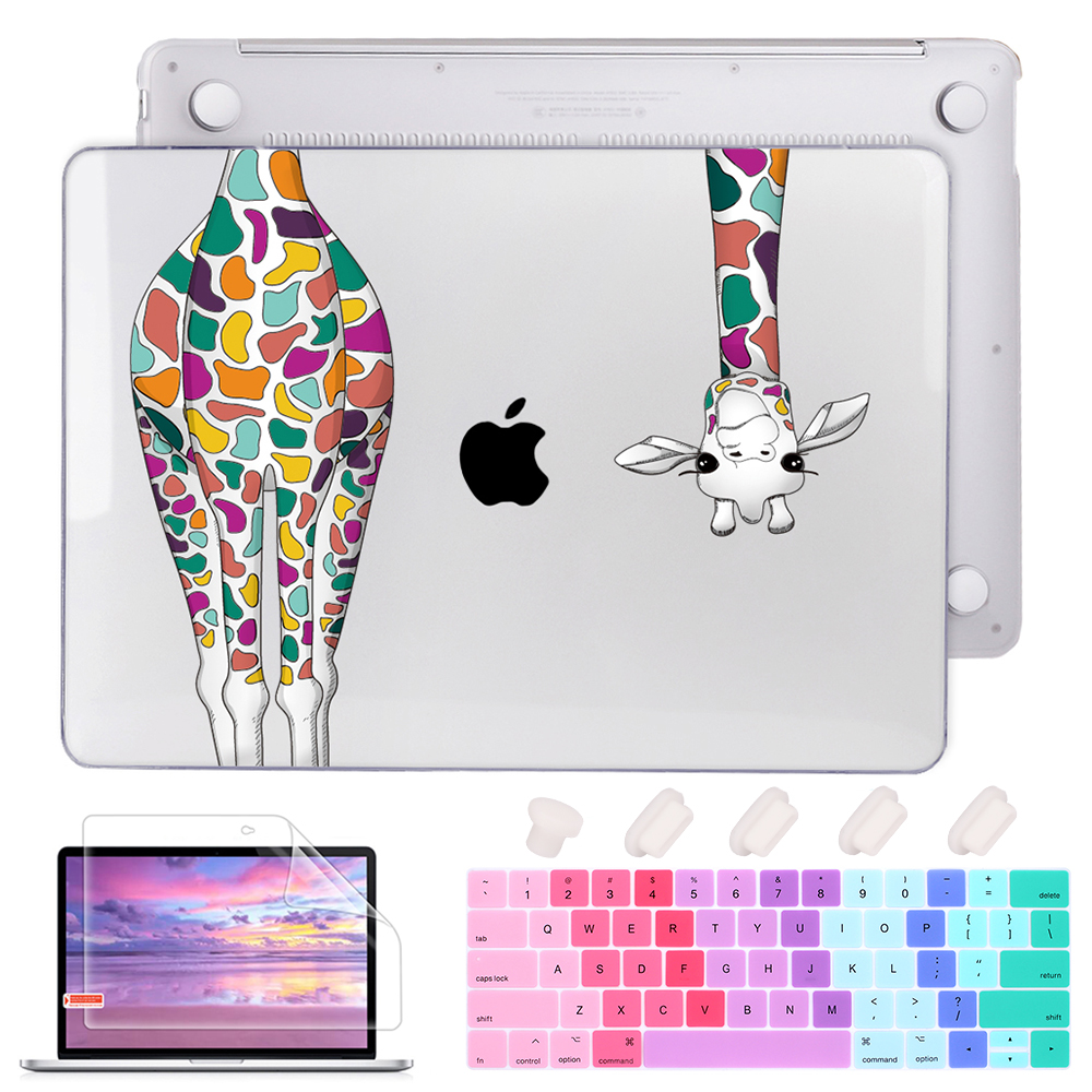 Redlai Laptop Sleeve For Macbook Pro Air Retina 11 13 15With Touch Bar Giraffe Print Case For Apple Mac Book 13.3 Inch Cover