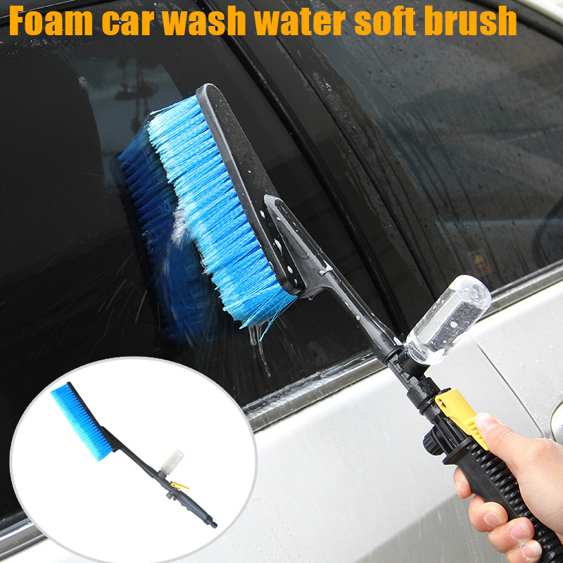 Car Wash Brush Hose Adapter Vehicle Truck Cleaning Water Spray Nozzle Car Washing Care OE88