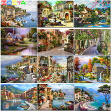 ZOOYA Stitch 5D Diamond Painting Landscape Sea Diy Diamond Painting Full Square New Arrival Icon Diamond Embroidery Icons   ZW74 zooya diy 5d religion diamond painting icons diamond embroidery icons full set sale new diamond mosaic icons free shipping 6zj01