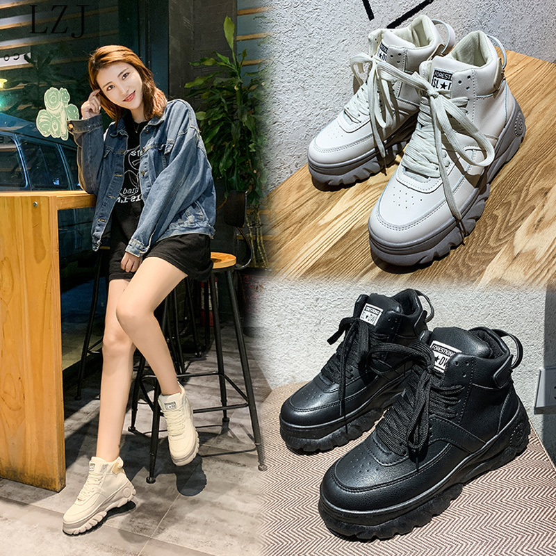 2020 Fashion Korean Flying Women Sneakers Beige Black Luxury Designer Women Shoes Lady Comfort Platform Trainers Basket Femme
