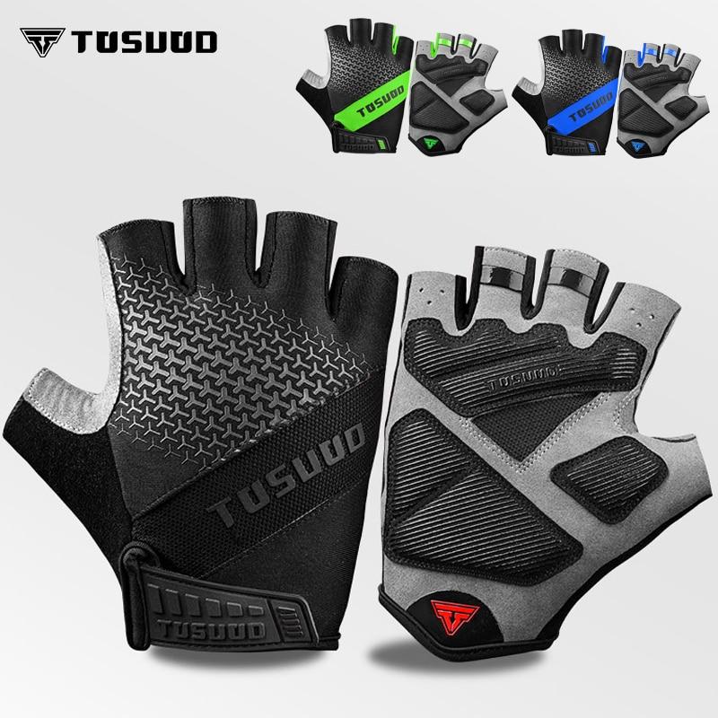 Tosuod luvas antiderrapantes para ciclismo, luva masculina de meio dedo com antiderrapante para ginástica, bicicleta, verão 2020 luvas esportivas