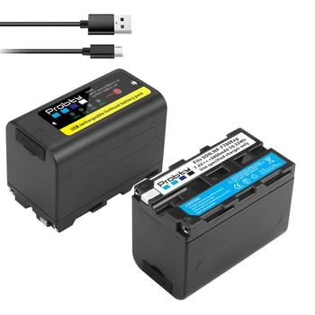 6800mAh de salida USB NP-F770 NP-F750 NP F770 np f750 batería para Sony NP-F330 NP-F530 NP-F570 NP-F730 NP-F750 NP-F770 NP-F970