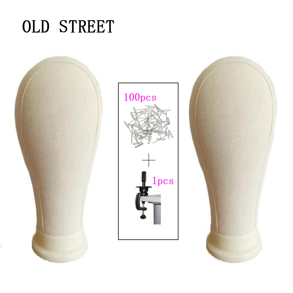 """21""""/22""""/23""""/24""""/25"""" Canvas Mannequin Head Wig Stand For Making Wigs Styling Display Beige Manikin Maniquin Head"""