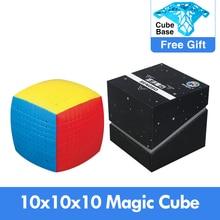 Новейший волшебный пазл 10x10 Shengshou 10x10x10, скоростной, без наклеек, 85 мм, профессиональный магический куб, высококачественные игрушки для детей