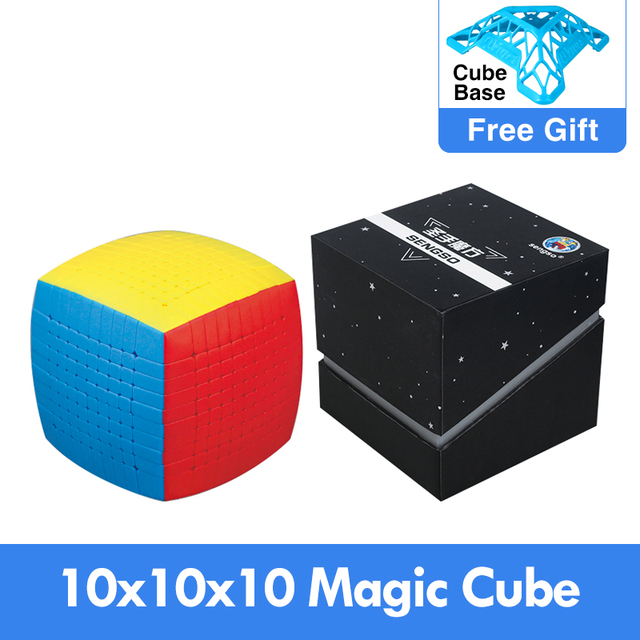 Newest Magic Puzzle 10x10 Shengshou 10x10x10 Cubing Speed Stickerless 85mm professional Cubo Magico high level Toys for Children