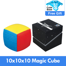 Yeni sihirli bulmaca 10x10 Shengshou 10x10x10 küp hızlı Stickerless 85mm profesyonel Cubo Magico yüksek seviye oyuncaklar çocuklar için
