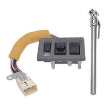 1 шт. Портативный прочный автомобильный Стайлинг 5-50 Psi измеритель давления и 1 шт. автомобильный боковой электрический выключатель окна