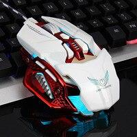 Backlit Gaming Mouse Verstelbare 4000 Dpi 8-Key Macro Programma Ontwerp Intrekbare Snelle Computer Muis Ergonomische Optische Muis