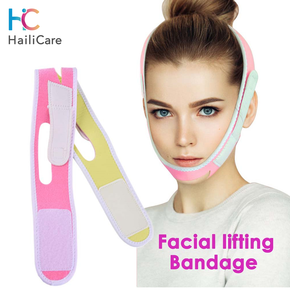 Face Slimming Belt V Line Lifting Facial Cheek V Shape Lift Up Mask Strap Facial Thin FaceDouble Chin Remover Slimming Bandage