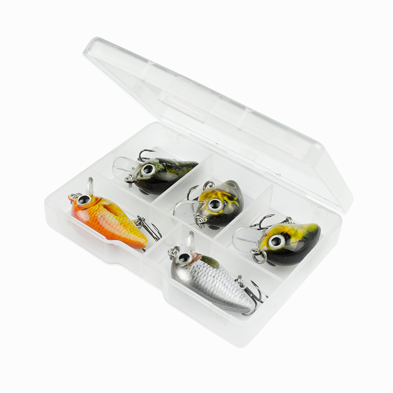 Baits Fishing-Lures Wobblers-Tackle-Pesca Bionic Hard-Fish Small MR62 5pcs 15-Color Lifelike title=