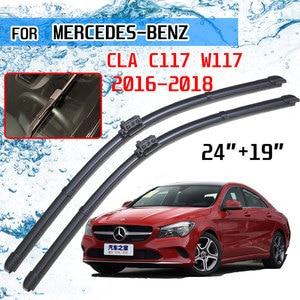 Image 1 - For Mercedes Benz CLA C117 W117 2016 2017 2018 CLA180 CLA200 CLA220 CLA250 CLA45 AMG Accessories Car Front Wiper Blades Brushes