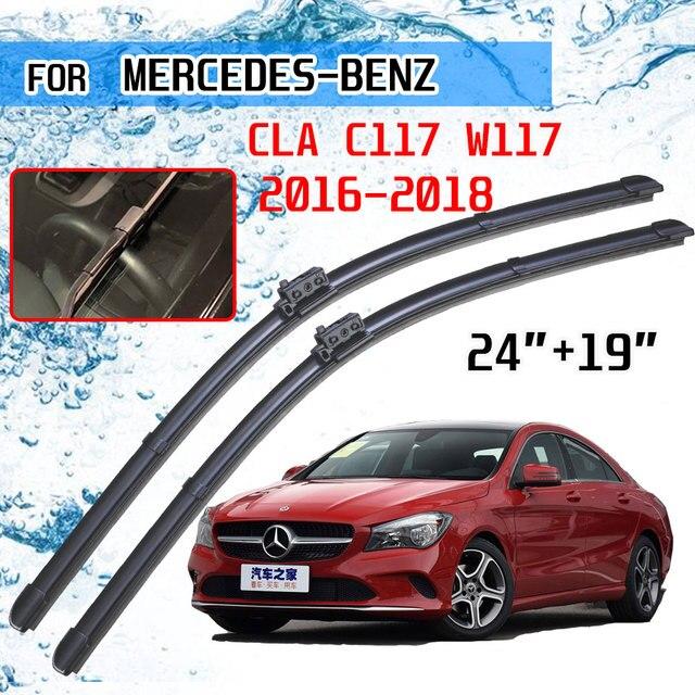 For Mercedes Benz CLA C117 W117 2016 2017 2018 CLA180 CLA200 CLA220 CLA250 CLA45 AMG Accessories Car Front Wiper Blades Brushes