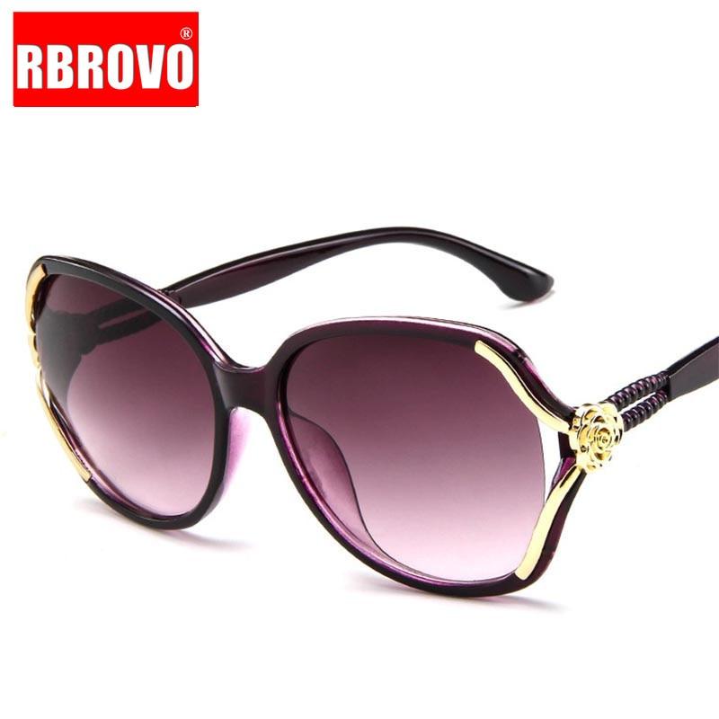 RBROVO 2018 Flower Pilot Sunglasses Women Gradient Classic Vintage Ladies Oversized Sun Glasses UV400 Oculos De Sol Feminino