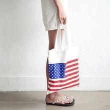 Многоразовая Холщовая Сумка для женщин Большая складная сумка