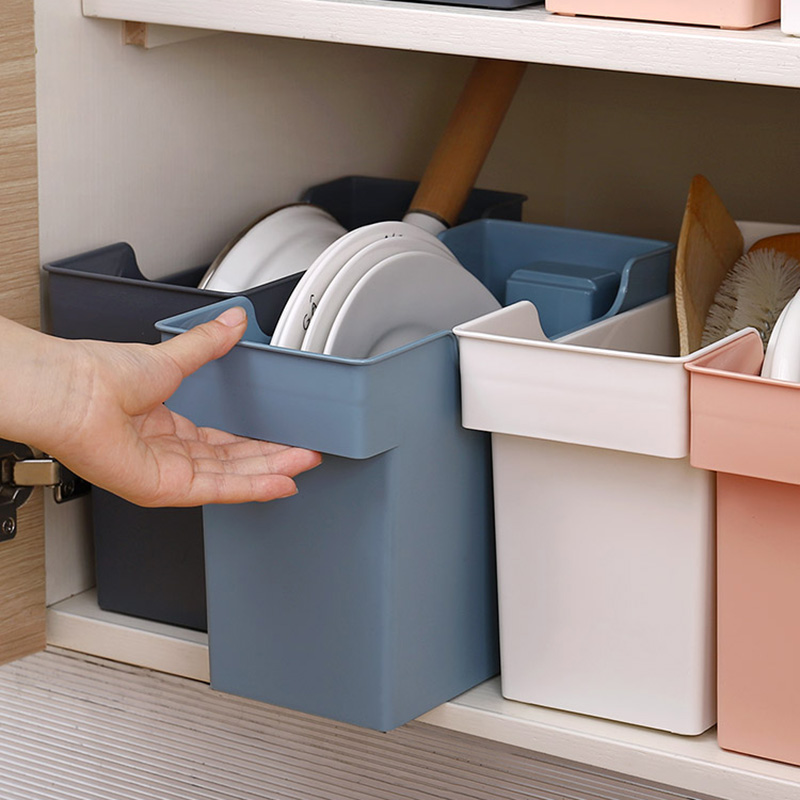 Home Plastic Storage Box Organizer For Kitchen Accessories Storage Basket Kitchen Storage Box/rack Space Saver Bathroom Shelf