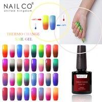 NAILCO 10ML Thermische Temperatur Farbwechsel Kunst Gel Nagellack Absorbieren Glanz Soak Off Gel LED UV Gellak Hybrid lack