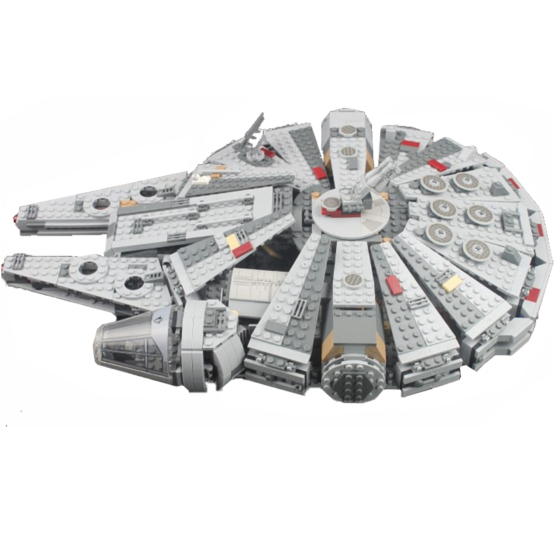 Image 5 - Locking star wars Millennium SpaceShip Set Action Figures Han Solo s Bricks Building Blocks Toys For Children starwars LockingsBlocks   -